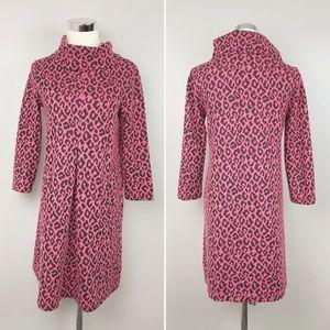 Tyler Boe Leopard Print Cowl Neck Dress in Pink